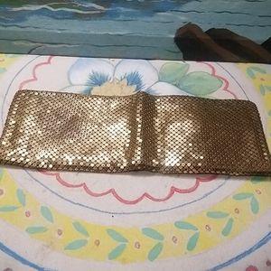 Vintage gold toned metal wallet